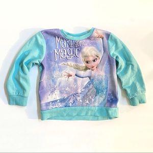 Disney Frozen Elsa blue pullover crewneck sweater